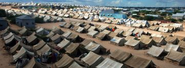 Refugee camp in mogadisgu